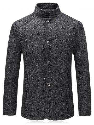 Unique Single Breasted Padded Woolen Blazer