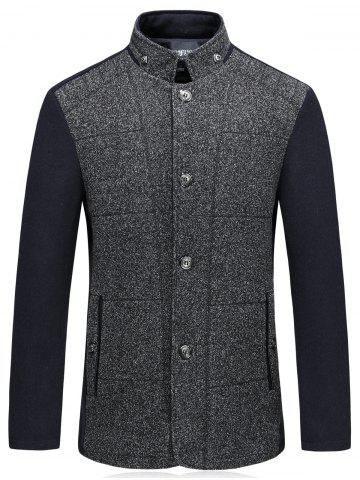 Shops Color Block Padded Single Breasted Woolen Blazer