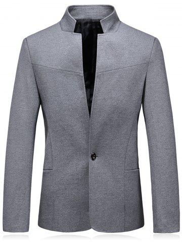 Outfit Stand Collar Slim Fit One Button Blazer