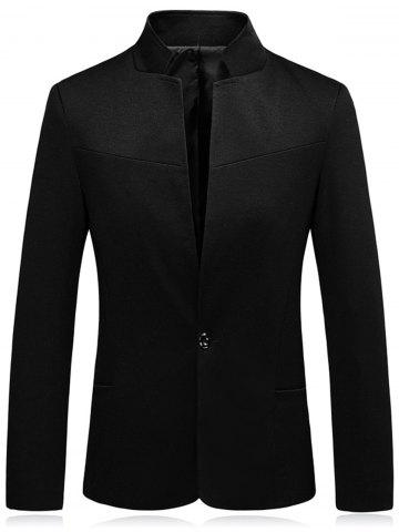 Discount Stand Collar Slim Fit One Button Blazer