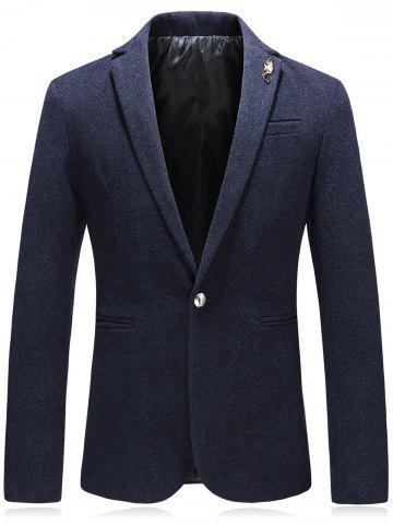 Buy Edging Leaf Embellished Woolen Blazer