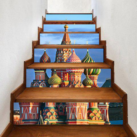 Outfits 6Pcs Russian Castle Palace Pattern Home Stair Stickers