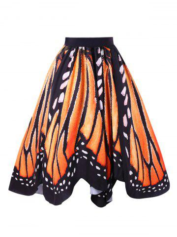 Unique A-line Butterfly Wing Skirt