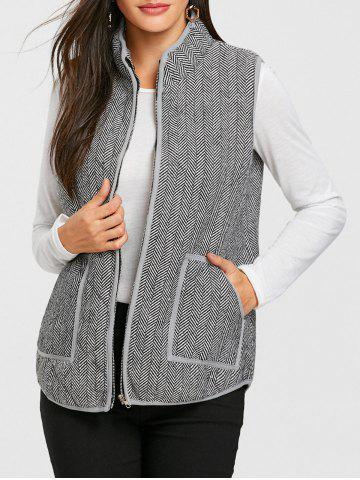 Unique Zip Up Tweed Quilted Waistcoat