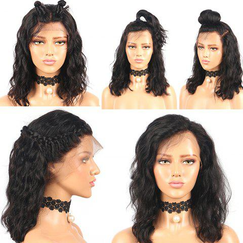 Online Medium Free Part Shaggy Water Wave Lace Front Synthetic Wig