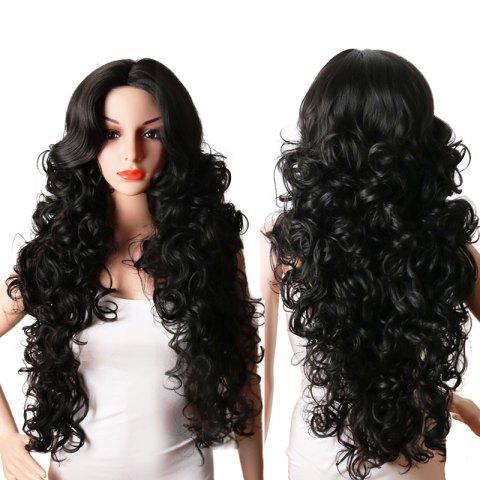 Outfits Long Center Parting Fluffy Curly Synthetic Wig
