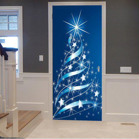 Chic Christmas Stars Tree Pattern Door Cover Stickers