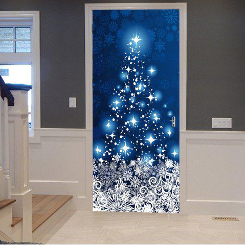 Discount Christmas Snowflakes Star Pattern Door Cover Stickers