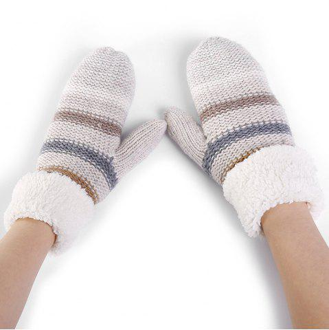 Best Pair of Striped Pattern Colormix Crochet Knitted Gloves