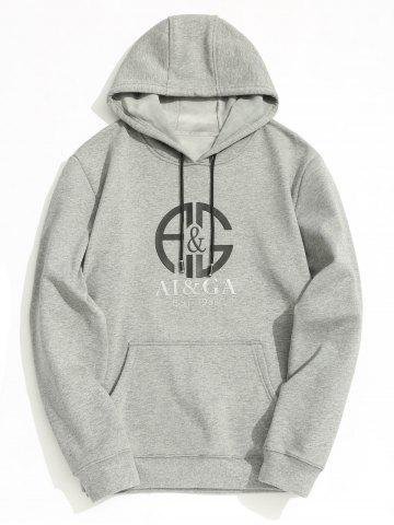 Outfit Fleece Lining Mens Graphic Hoodie