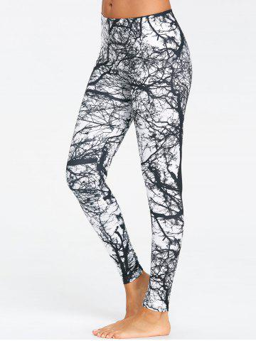 Chic Tree Trunk Print Workout Leggings