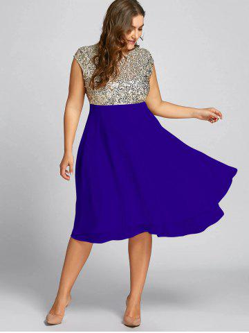 be8e43deb2544 Flounce Plus Size Sparkly Sequin Cocktail Dress