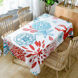 Floral Printed Home Decor Waterproof Fabric Table Cloth -