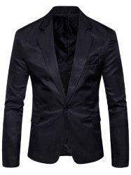 Flap Pocket One Button Lapel Blazer -
