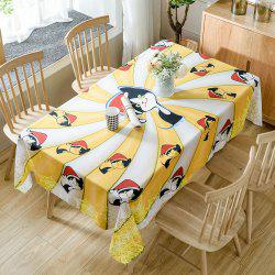 Christmas Cats Print Fabric Waterproof Tablecloth -