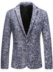 Leaf Embellished Edging Woolen Blazer -