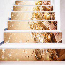 6Pcs Party Ornaments Pattern Home Stair Stickers -