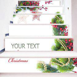 6Pcs Christmas Tree Star Ornament Home Stair Stickers -