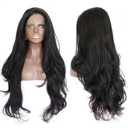 Side Parting Layered Long Wavy Lace Front Synthetic Wig -