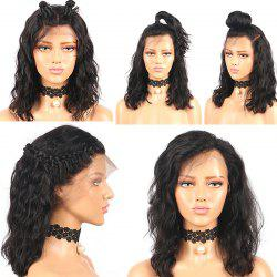 Medium Free Part Shaggy Water Wave Lace Front Synthetic Wig -