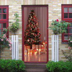 Christmas Tree Presents Pattern Door Cover Stickers -