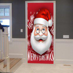 Christmas Santa Head Pattern Door Cover Stickers -