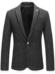 Edging Leaf Embellished Woolen Blazer -