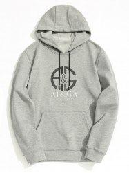 Fleece Lining Mens Graphic Hoodie -