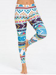 Running Geometric Pattern  Leggings -