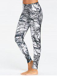 Tree Trunk Print Workout Leggings -