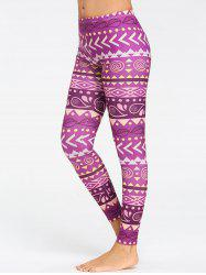 Collants De Yoga Motif Chevron Respirant -