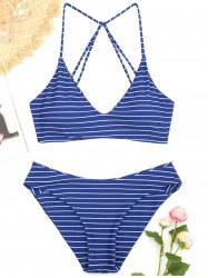 Striped Caged Bathing Suit -