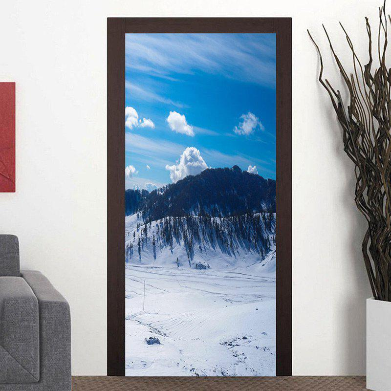 Discount Christmas Snowscape Pattern Door Cover Stickers