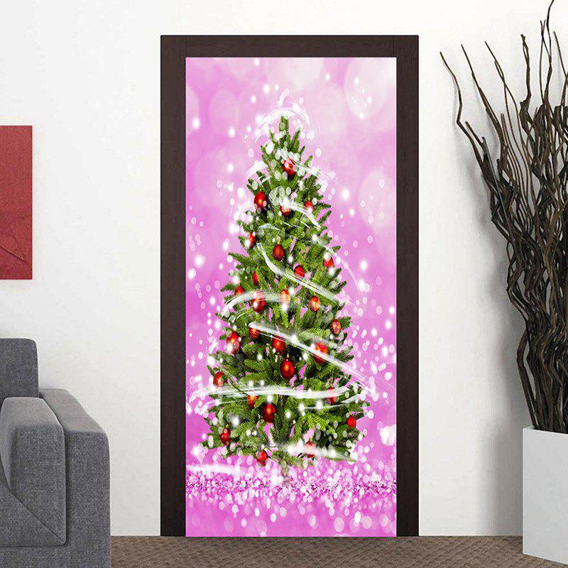 Shops Christmas Tree Pattern Home Decor Door Stickers