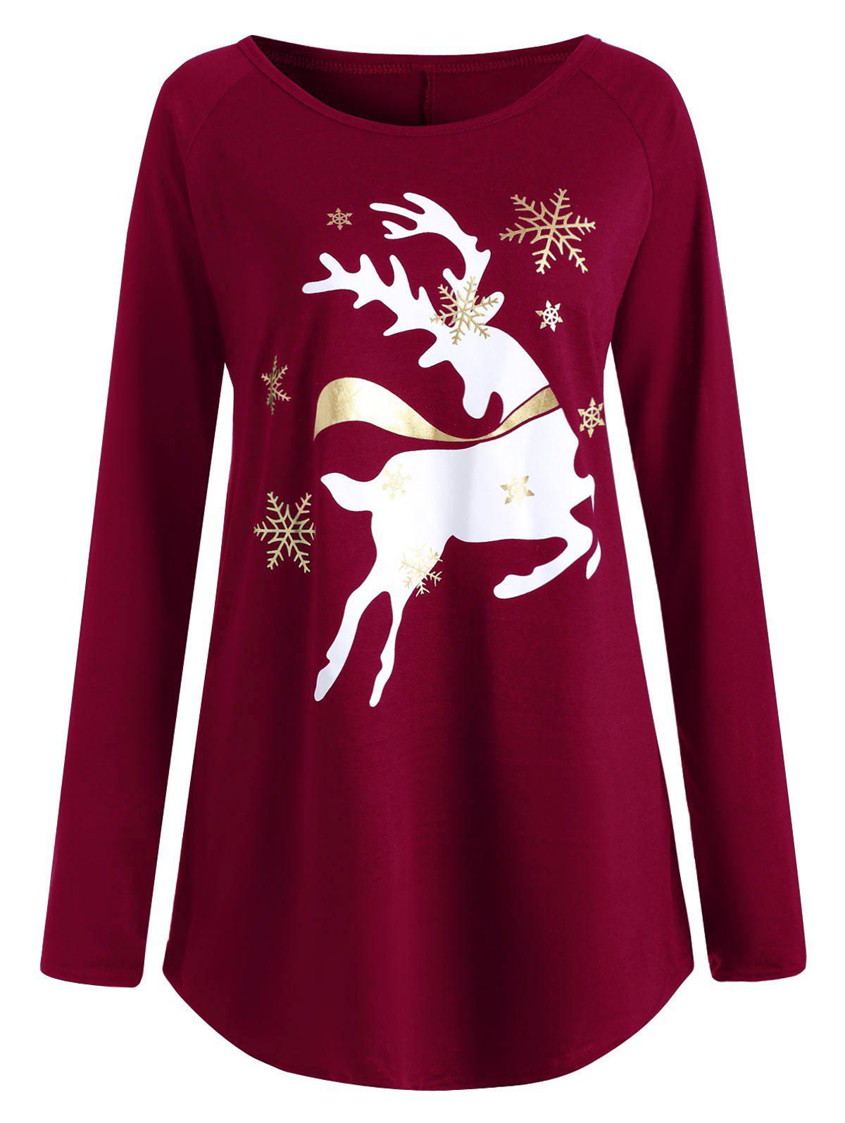Christmas Tops Plus Size.Christmas Deer Plus Size Graphic T Shirt