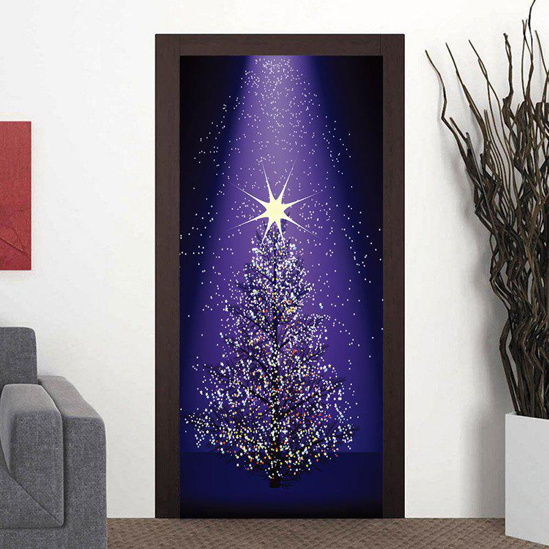 Shops Star Christmas Tree Pattern Door Stickers