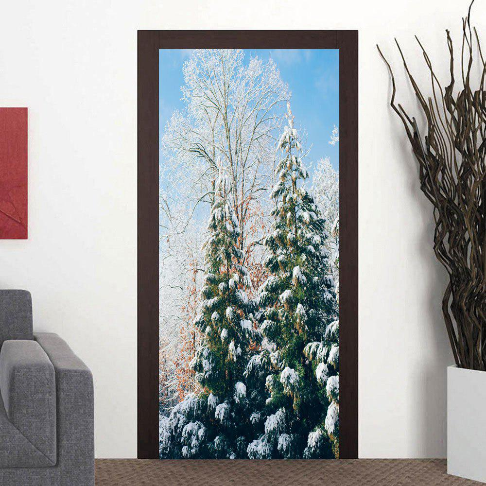 Outfits Snow Tree Pattern Decorative Door Stickers
