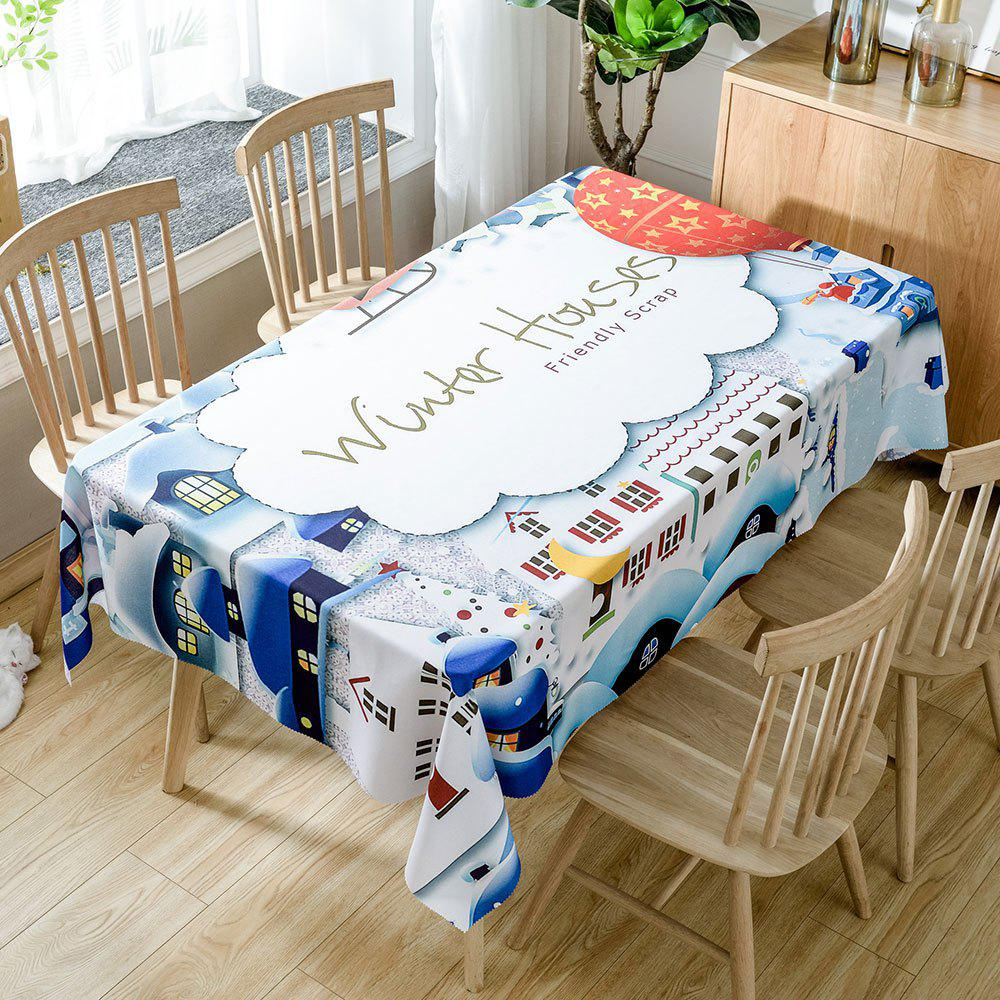 Outfits Christmas Winter Houses Printed Waterproof Table Cloth