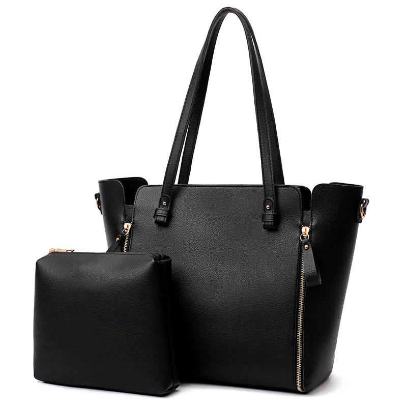 Cheap PU Leather Shoulder Bag Set With Strap