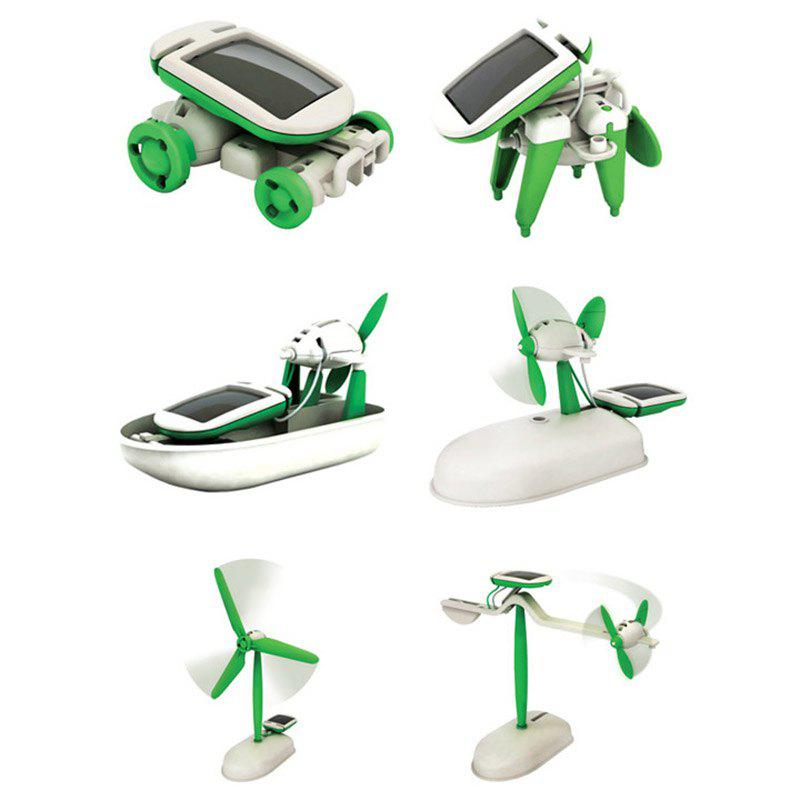 Unique 6-in-1 Educational Solar Powered Puzzle Assembly Toy Kit