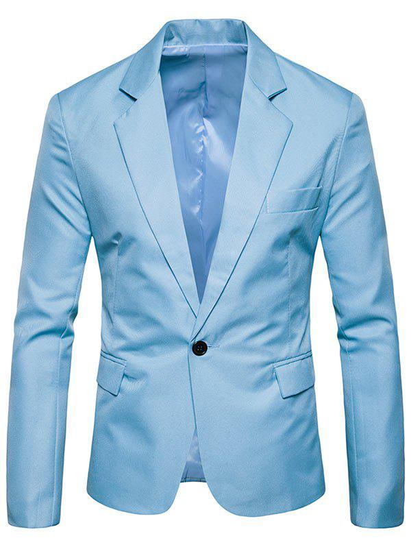 Outfit Flap Pocket One Button Lapel Blazer