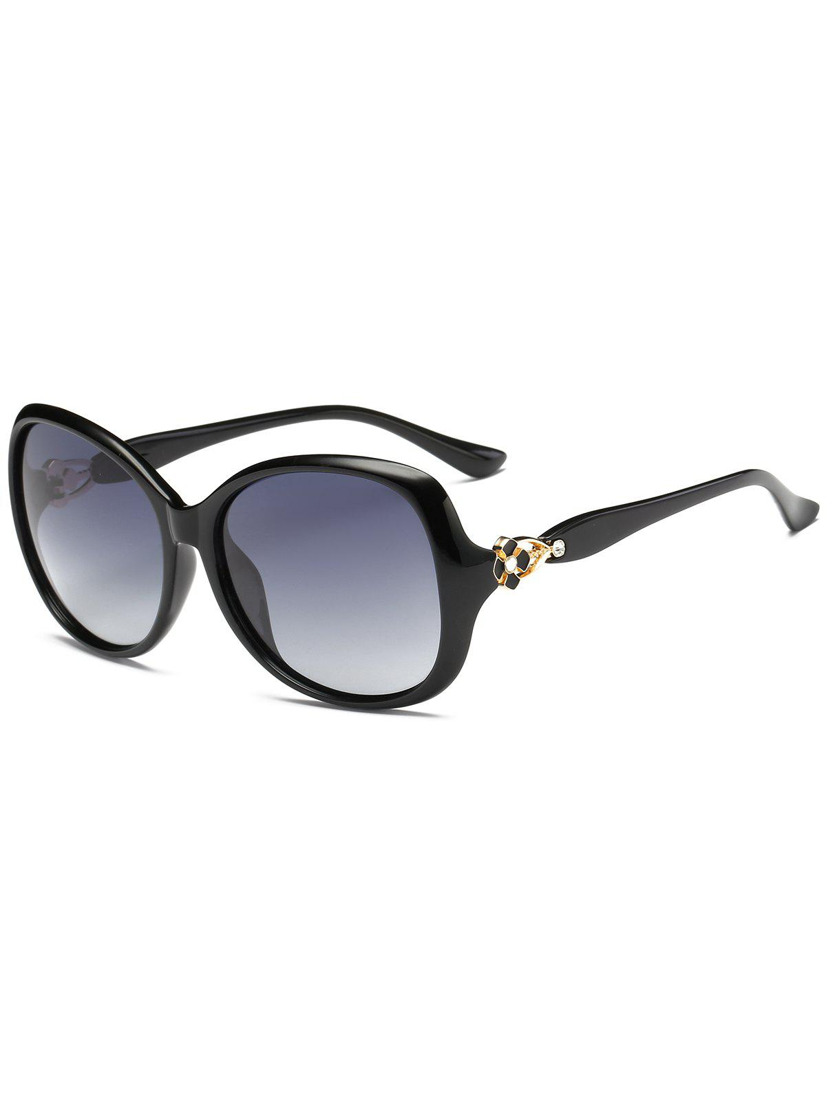 Fashion Vintage Metal Floral Embellished Oversized Sunglasses