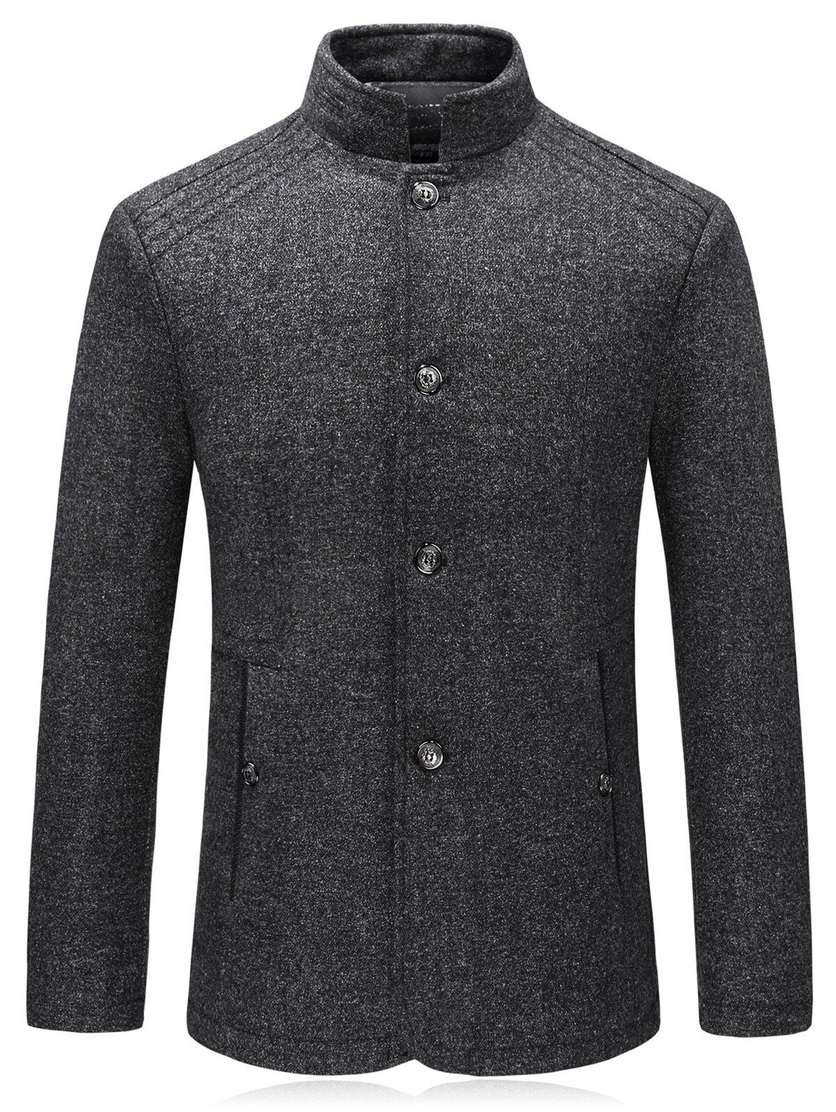 Affordable Single Breasted Padded Woolen Blazer