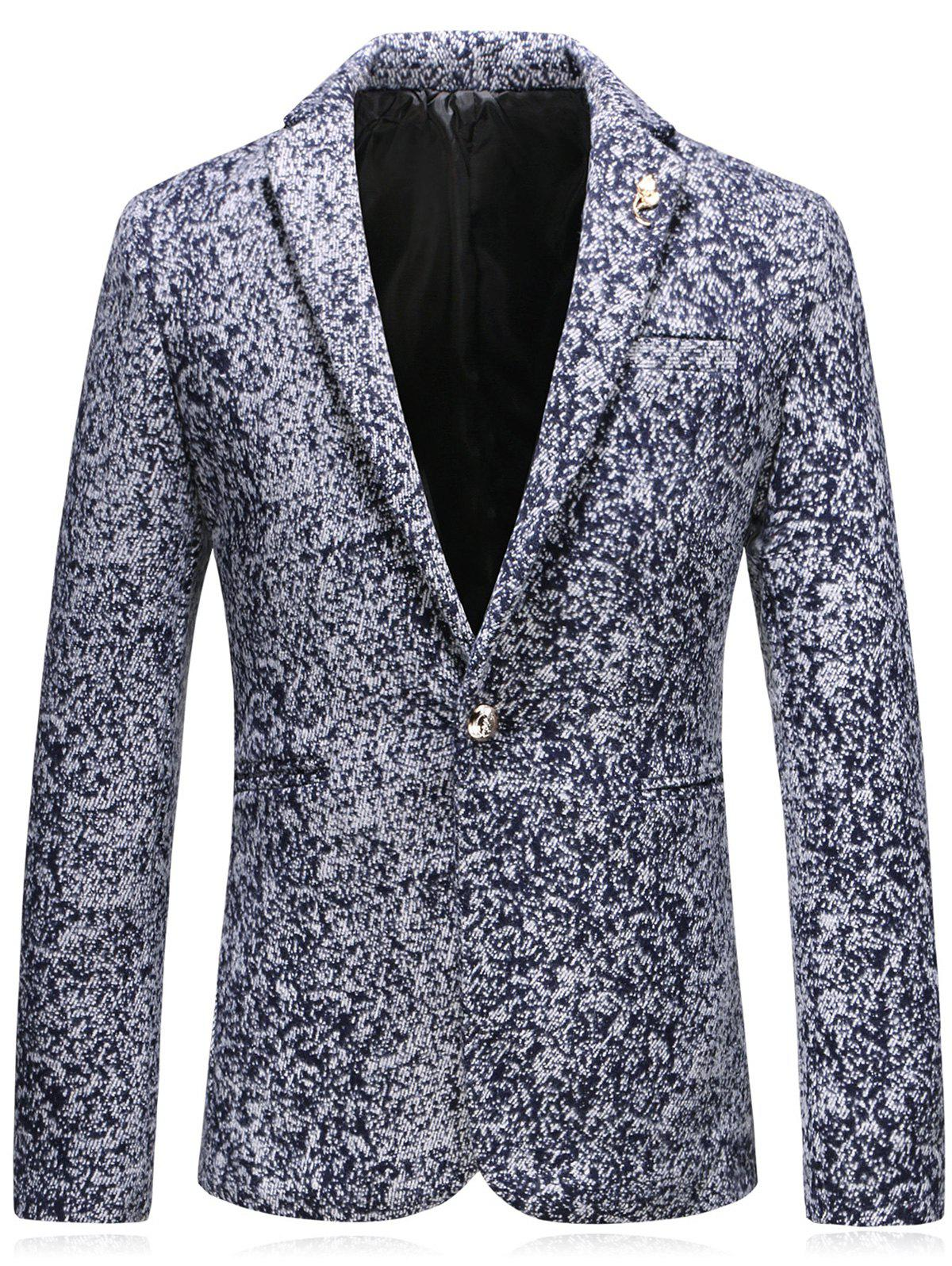 Shops Leaf Embellished Edging Woolen Blazer