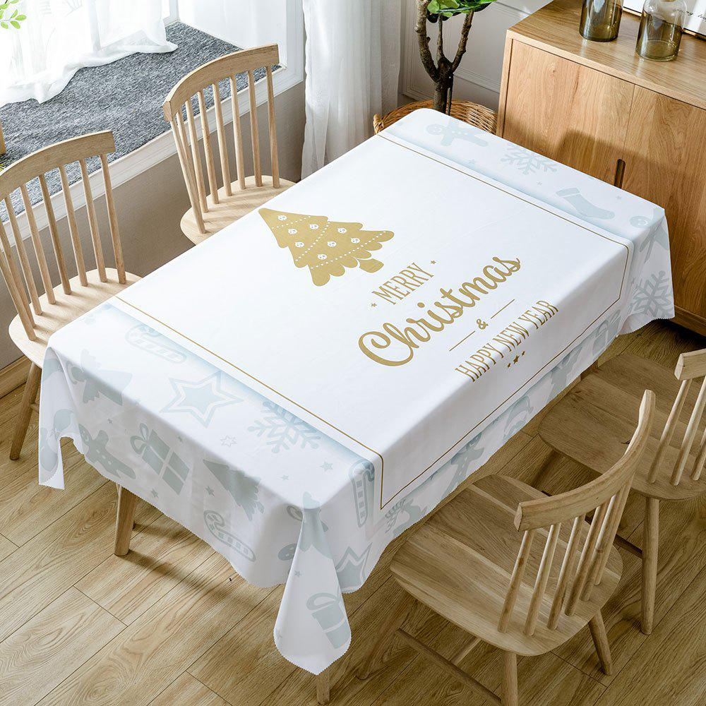 Shop Christmas Theme Greetings Print Fabric Waterproof Tablecloth