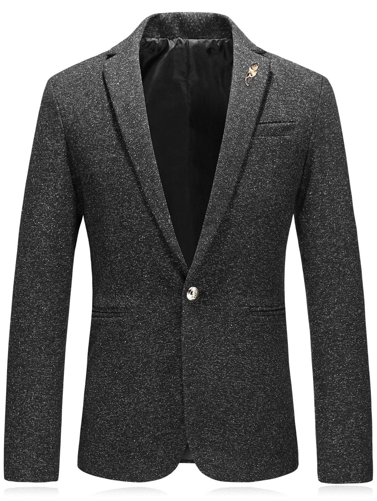 Online Edging Leaf Embellished Woolen Blazer