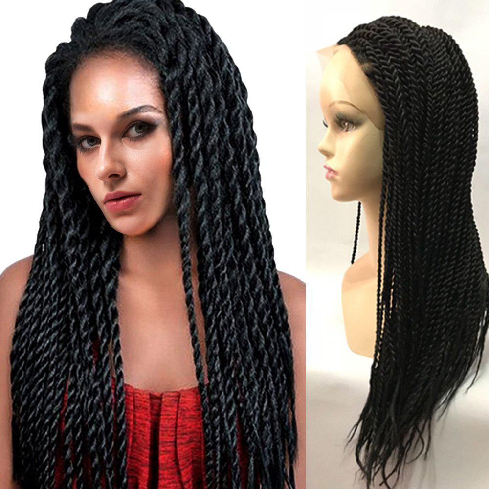 Shop Long Twisted Braids Lace Front Synthetic Wig