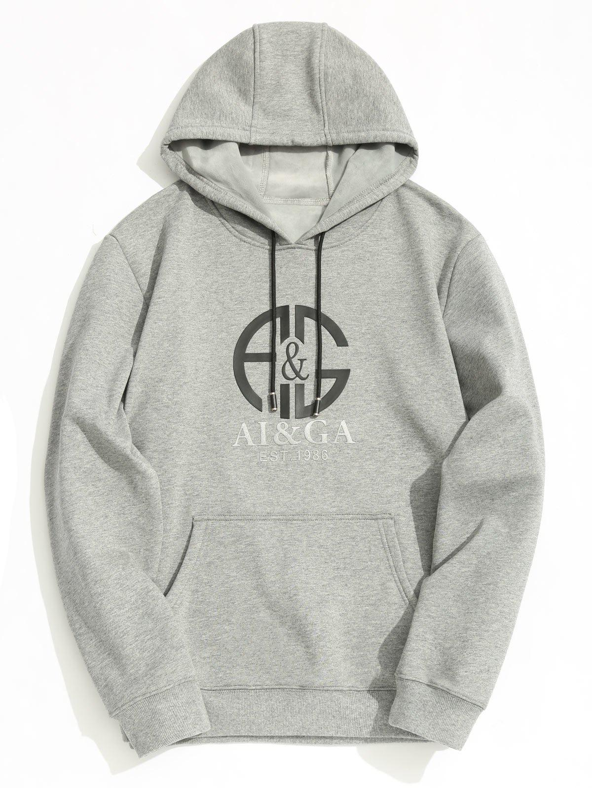 Online Fleece Lining Mens Graphic Hoodie