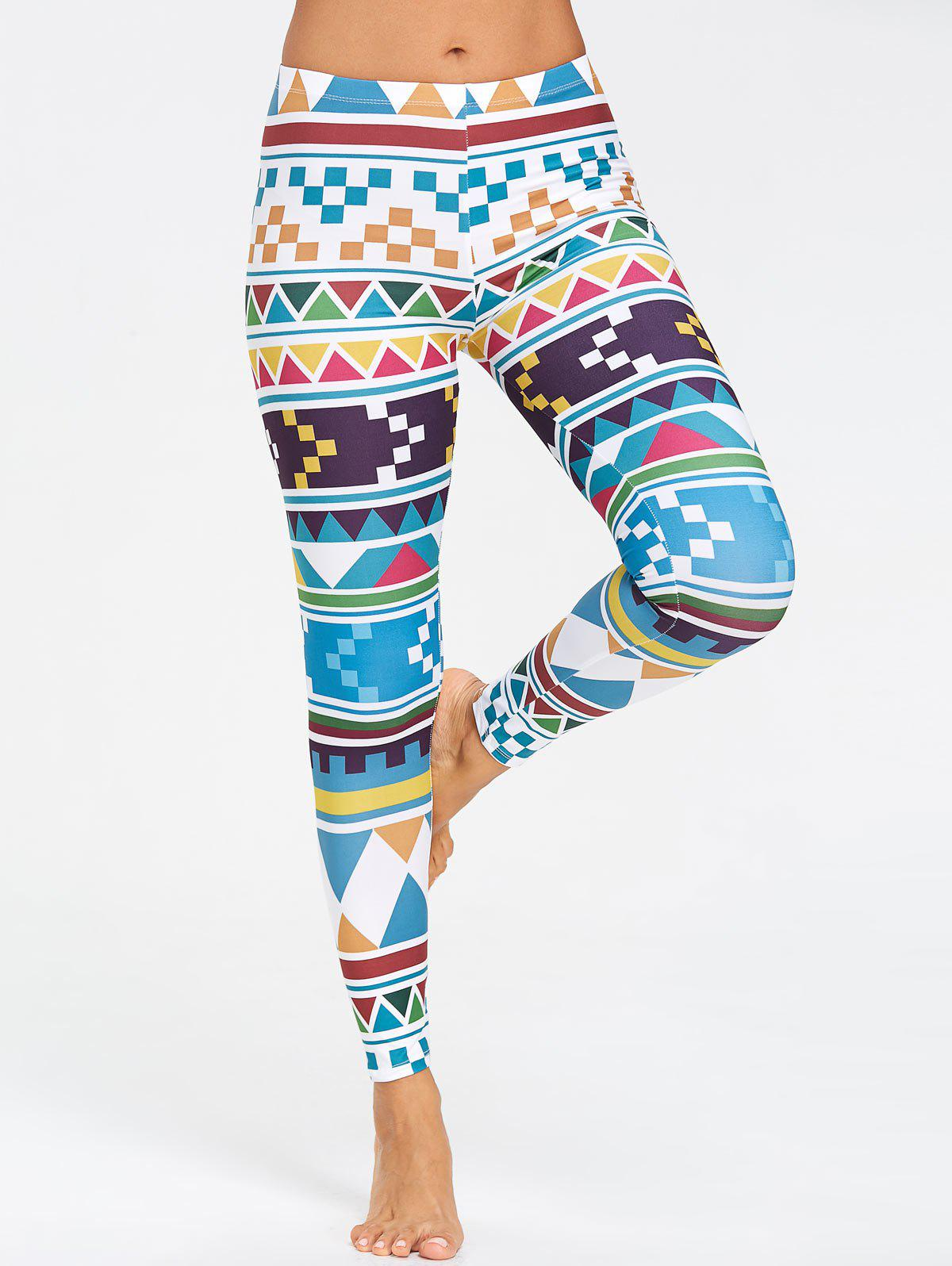Outfit Running Geometric Pattern  Leggings
