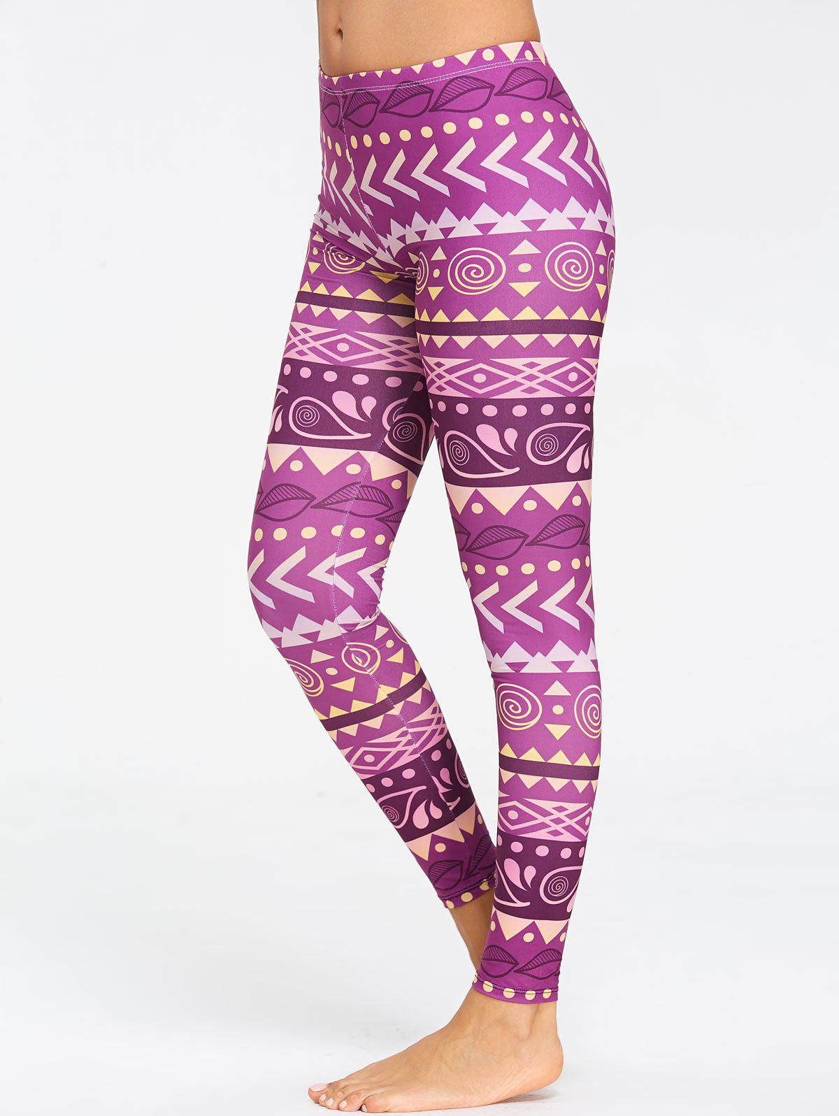 Online Breathable Chevron Pattern Yoga Tights